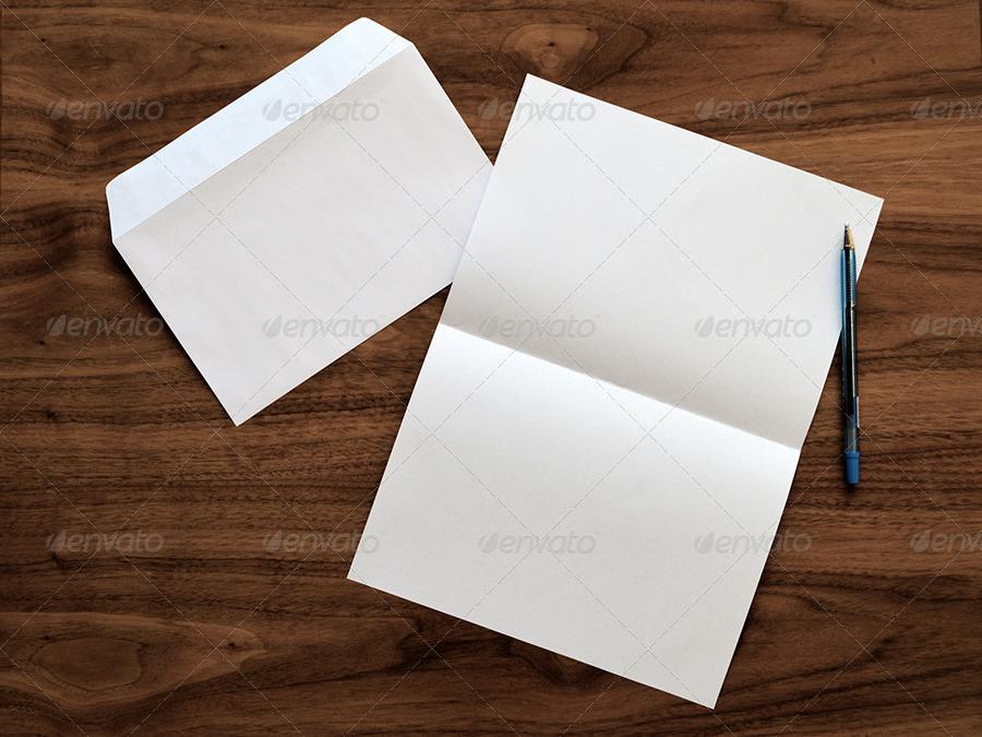 letter  u0026 envelope mock