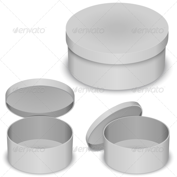 Round Box Template - Retail Commercial / Shopping