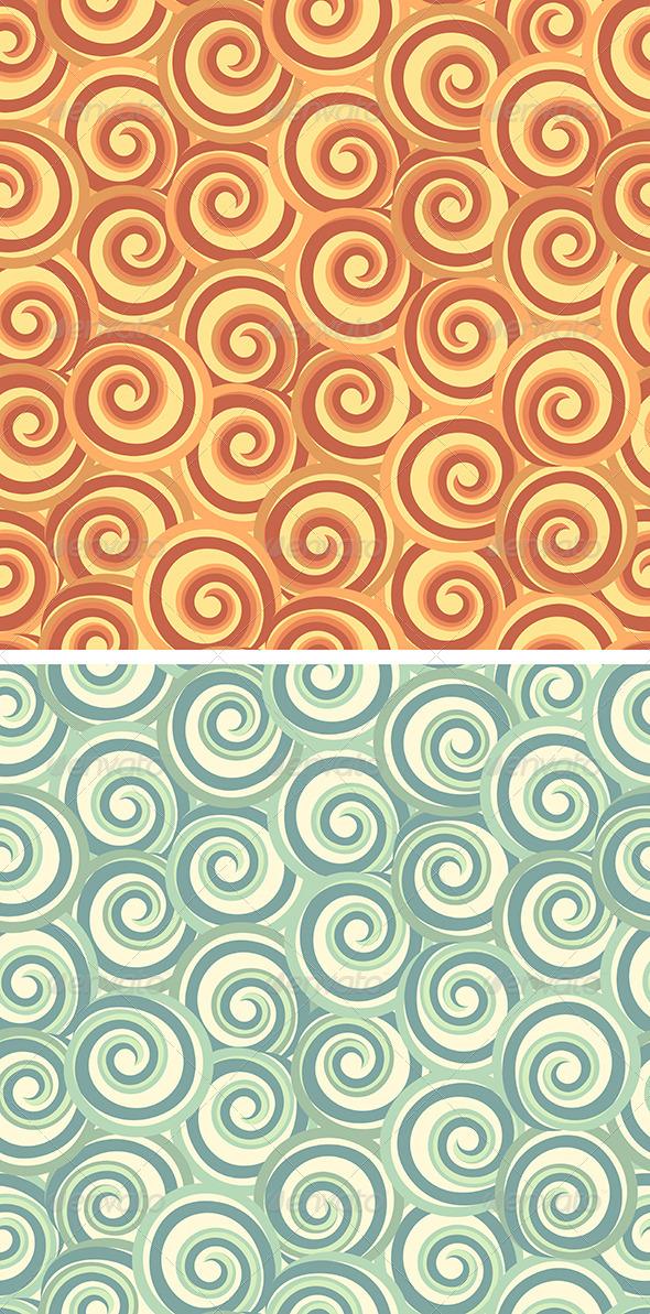 Abstract Seamless Swirl Pattern - Patterns Decorative