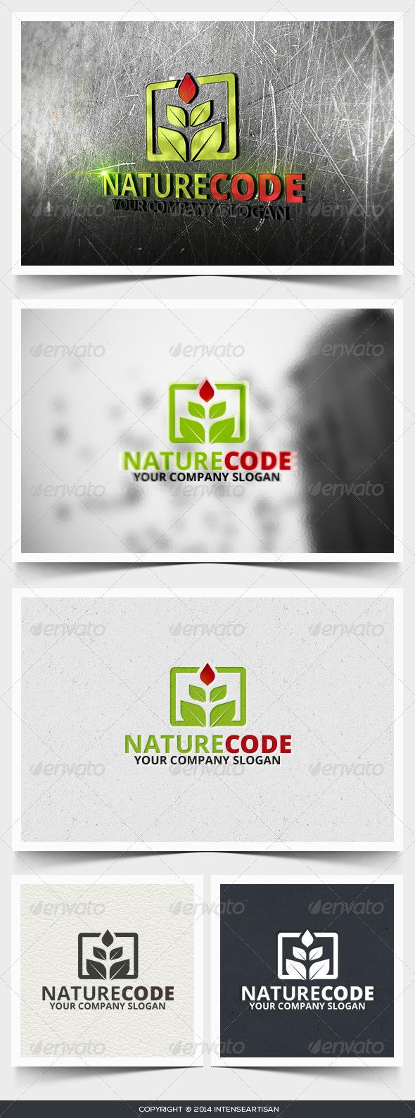 Nature Code Logo Template - Nature Logo Templates
