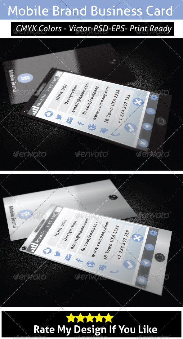 Window Mobile Business Card - Creative Business Cards