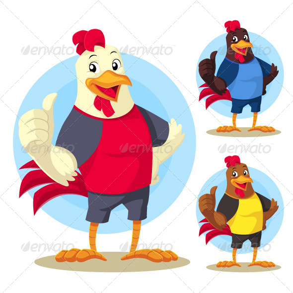 The Rooster Mascot - Animals Characters