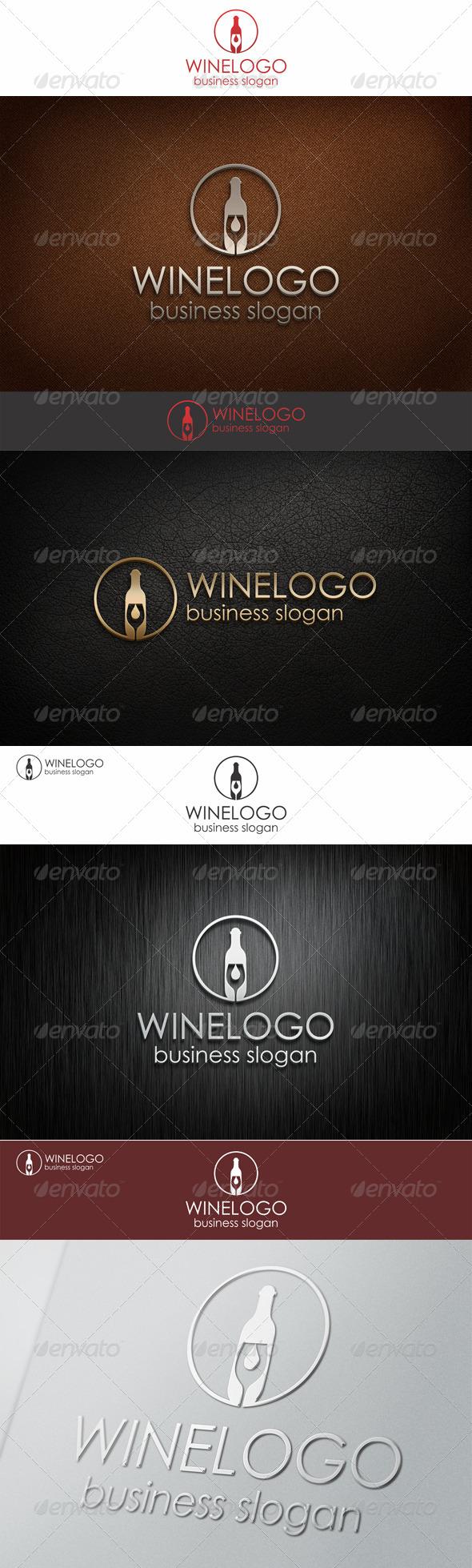 Elegant Wine Logo Template - Food Logo Templates