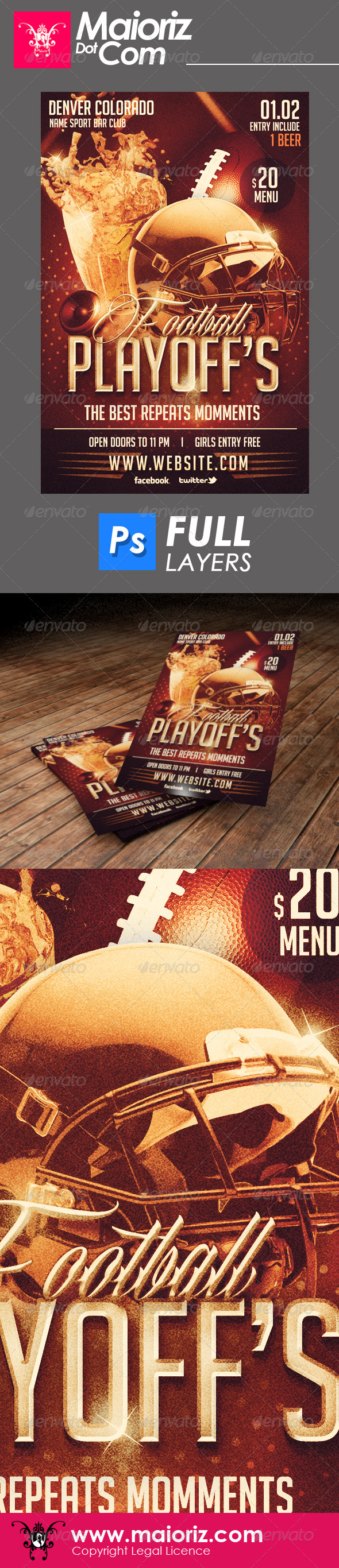 Sport Bar Playoffs Flyer - Sports Events