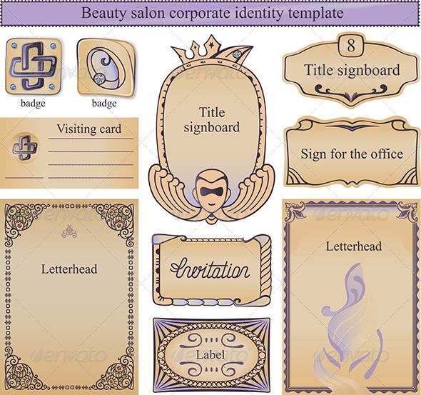 Corporate Identity Template for a Beauty salon - Backgrounds Decorative