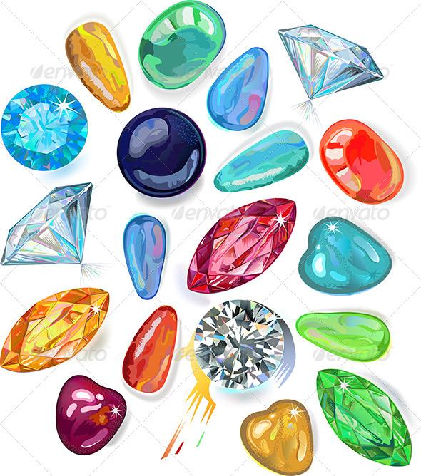 Array of Precious Stones - Decorative Symbols Decorative