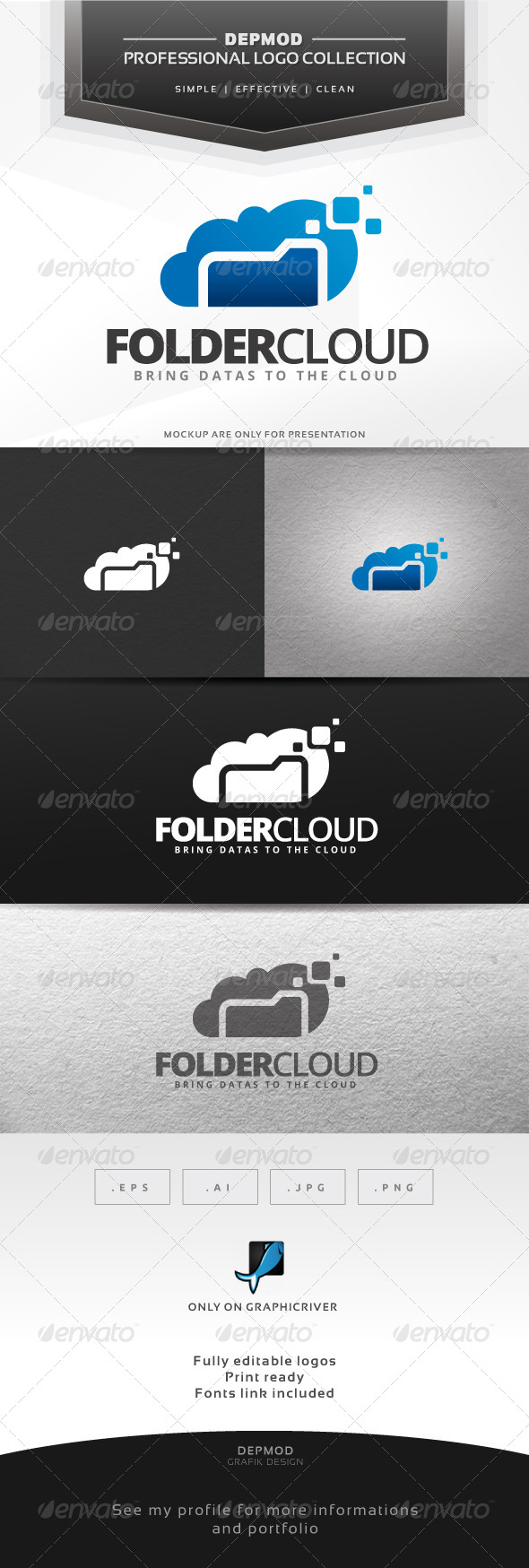 Folder Cloud Logo - Symbols Logo Templates