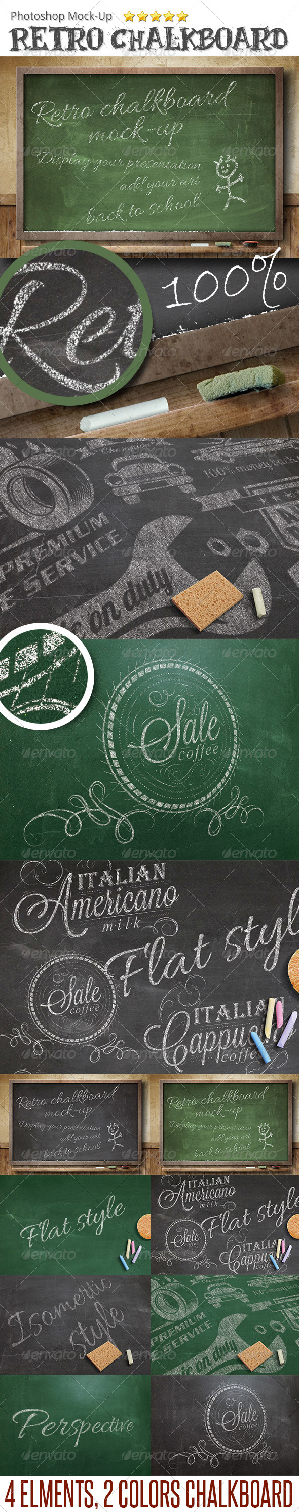 ChalkBoard Mock-Up - Miscellaneous Product Mock-Ups