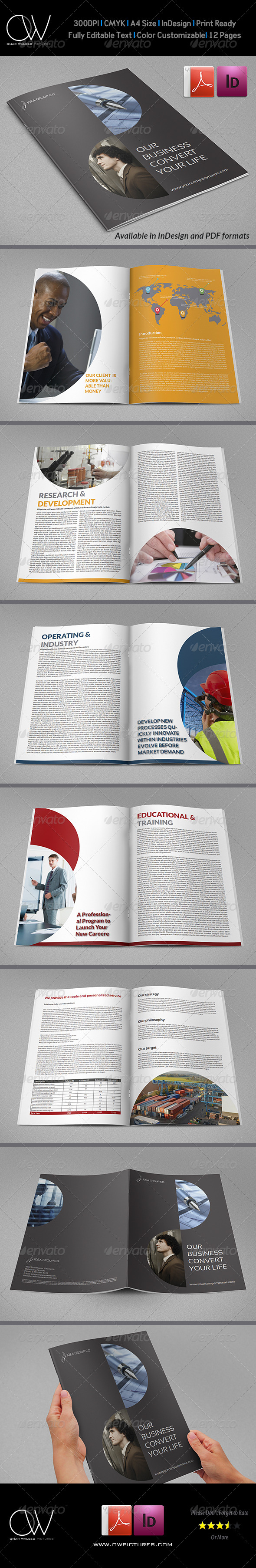Corporate Brochure Template Vol.20 - 12 Pages - Corporate Brochures