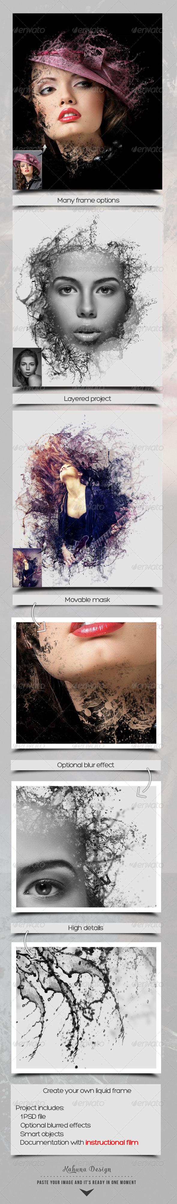 Liquid Frame Maker - Artistic Photo Templates