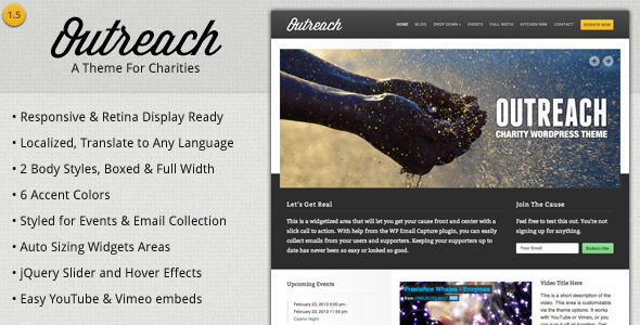 Outreach – Charity WordPress Theme