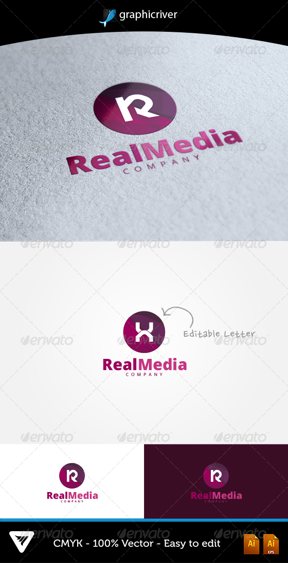 RealMedia Logo - Logo Templates