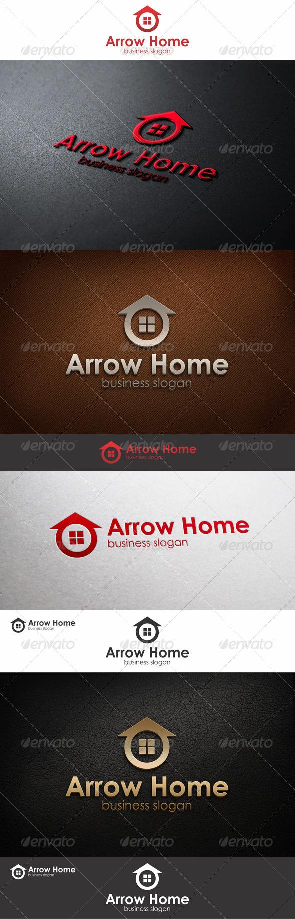 Arrow Home Logo Template - Buildings Logo Templates