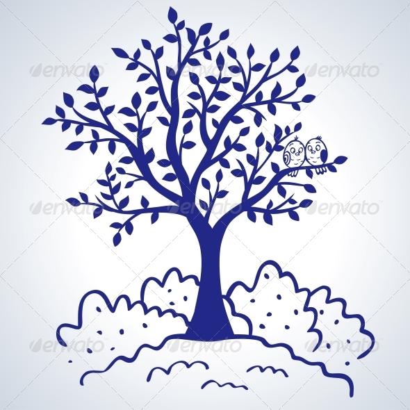 Tree Silhouette - Flowers & Plants Nature
