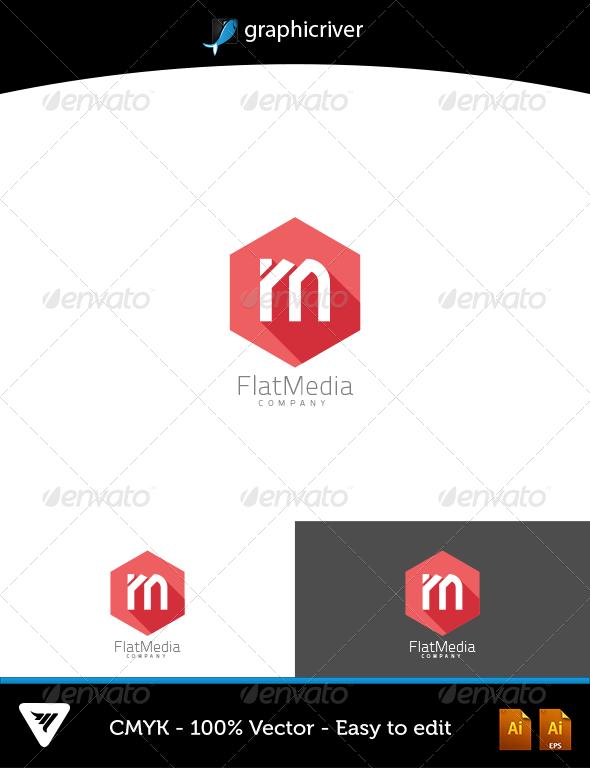 FlatMedia Logo - Logo Templates