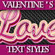 Set of Text Graphic Styles for Valentine's Day - GraphicRiver Item for Sale