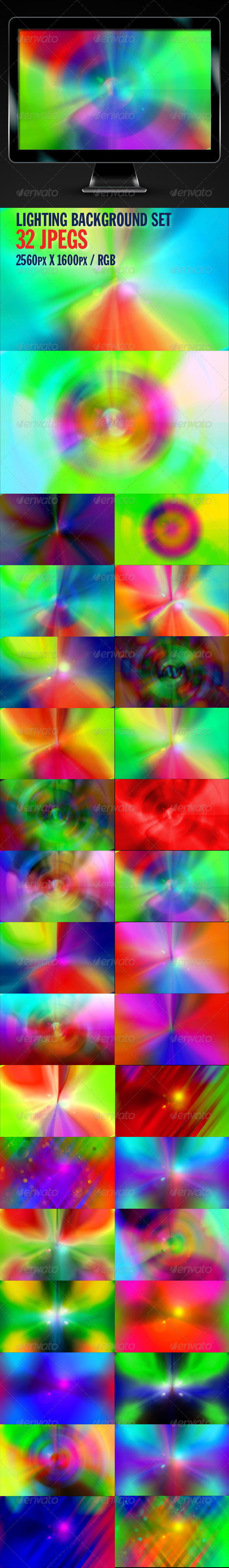 Lighting Backgrounds Set - Backgrounds Graphics