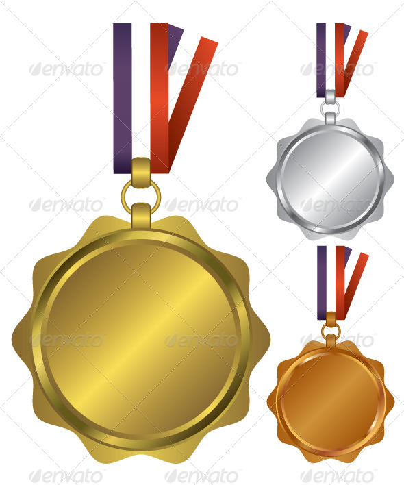 Three Medals for the Winners Illustration - Sports/Activity Conceptual