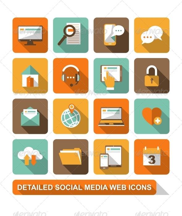 Social, Media, Web Icons - Web Icons