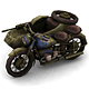 Military Modern War Motorcycle (Blue) - 3DOcean Item for Sale