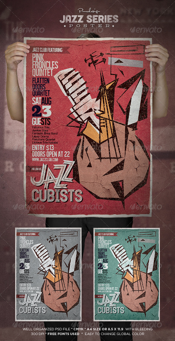Jazz | Flyer/Poster Template - Concerts Events