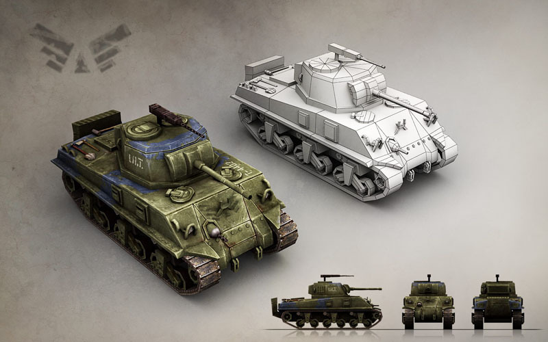 Military Modern War Heavy Tank (Blue)