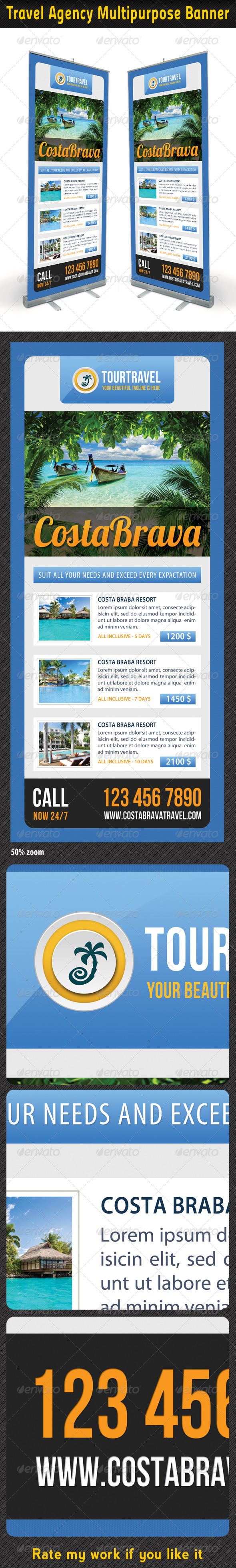 Travel Agency Banner Template 05 - Signage Print Templates