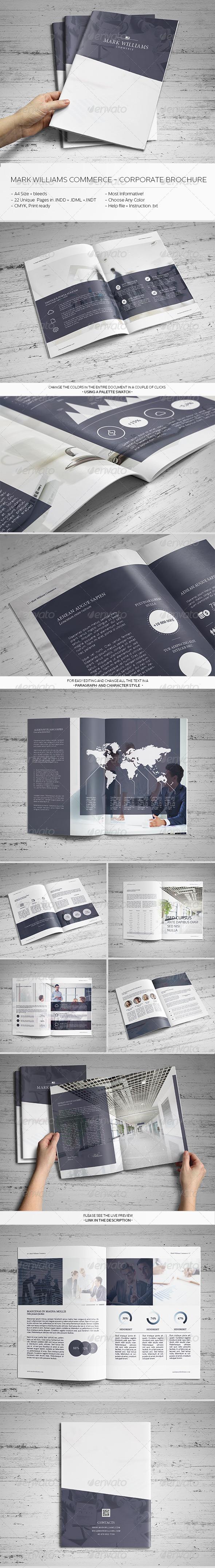 Mark Williams Commerce - Corporate Brochure - Brochures Print Templates