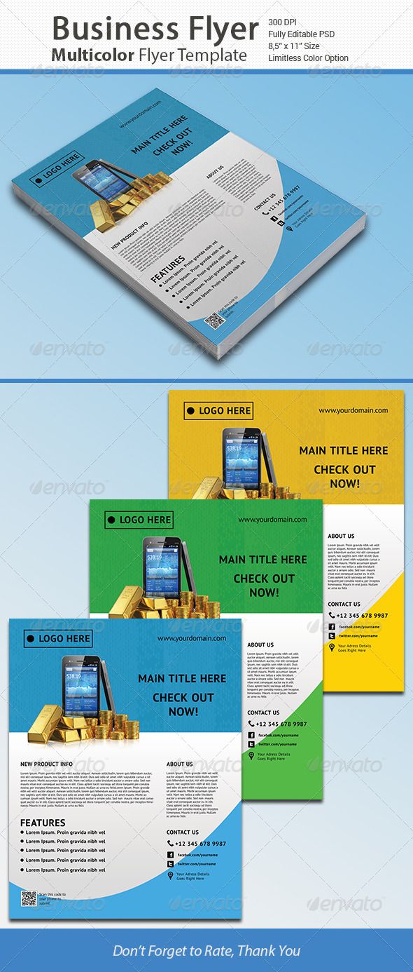 Colorful Business Corporate Flyer Vol. 3 - Corporate Flyers