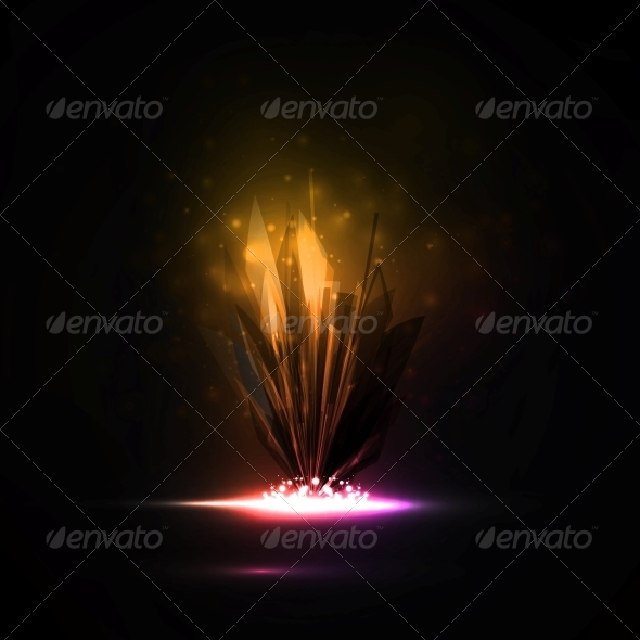 Abstract Magic Crystal - Abstract Conceptual