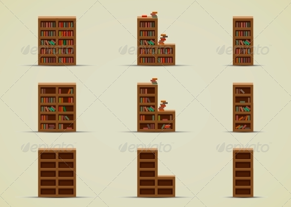 Wardrobes for Books - Sprites Game Assets