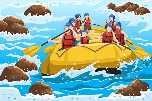 People Rafting - Sports/Activity Conceptual