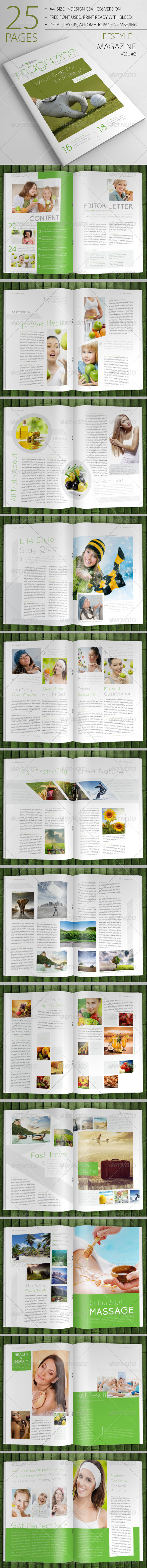 25 Pages Lifestyle Magazine Vol3 - Magazines Print Templates