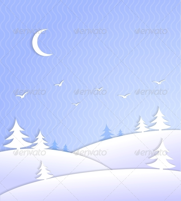 Winter Background Scene Ice Cold - Backgrounds Decorative