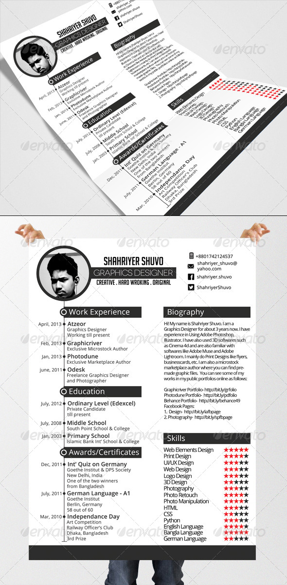 Minimal Timeline Resume - Resumes Stationery