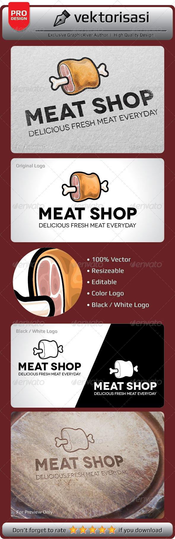 Meat Shop Logo - Objects Logo Templates