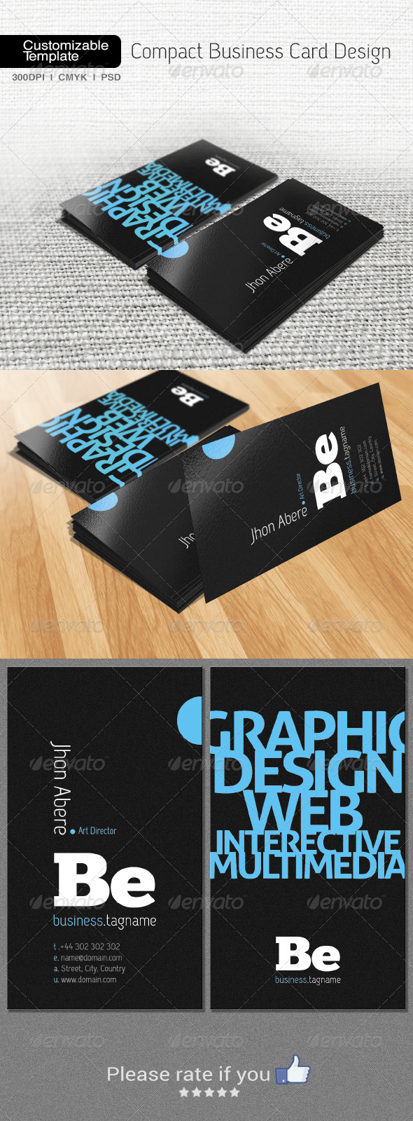 Compact Business Card Design - Creative Business Cards