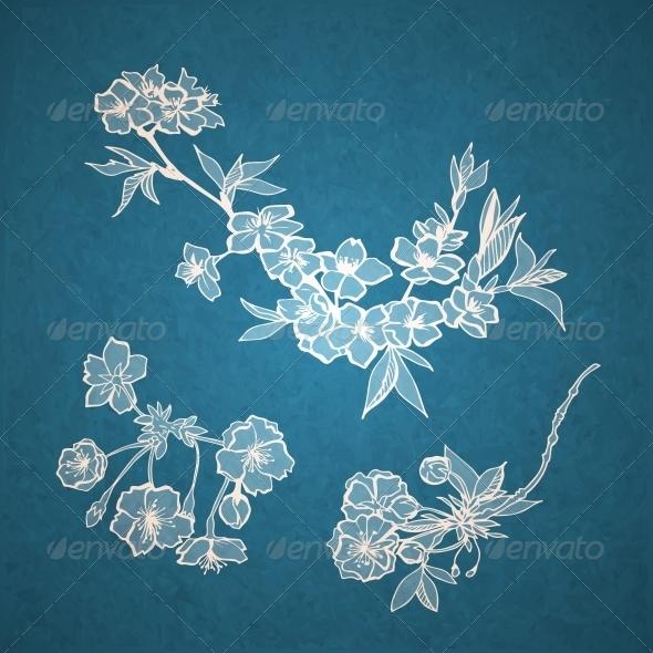 Blossoming Cherry Decorative Elements - Flowers & Plants Nature