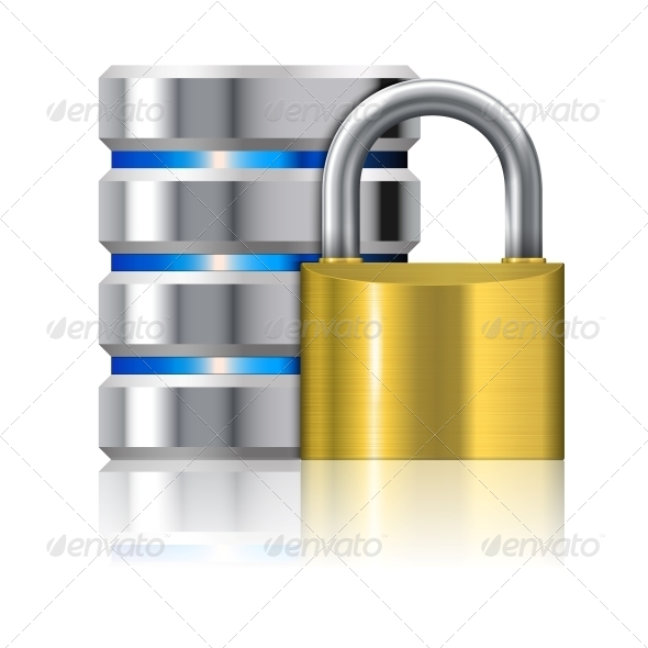 Padlock Protects Database  - Computers Technology