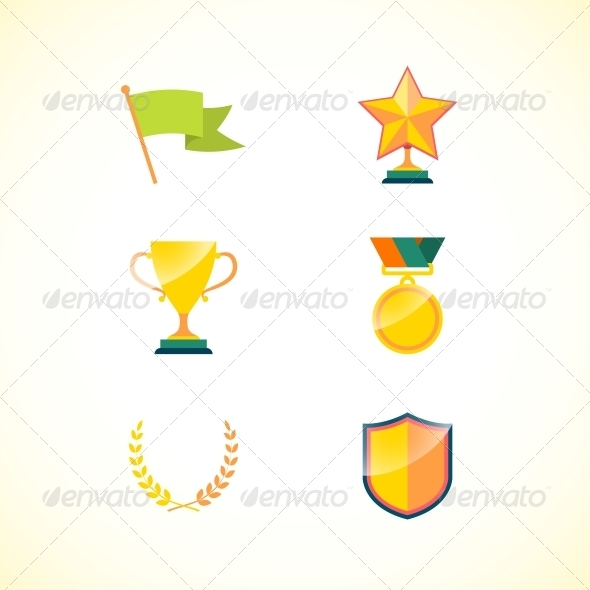 Set of Achievement Badges - Concepts Business