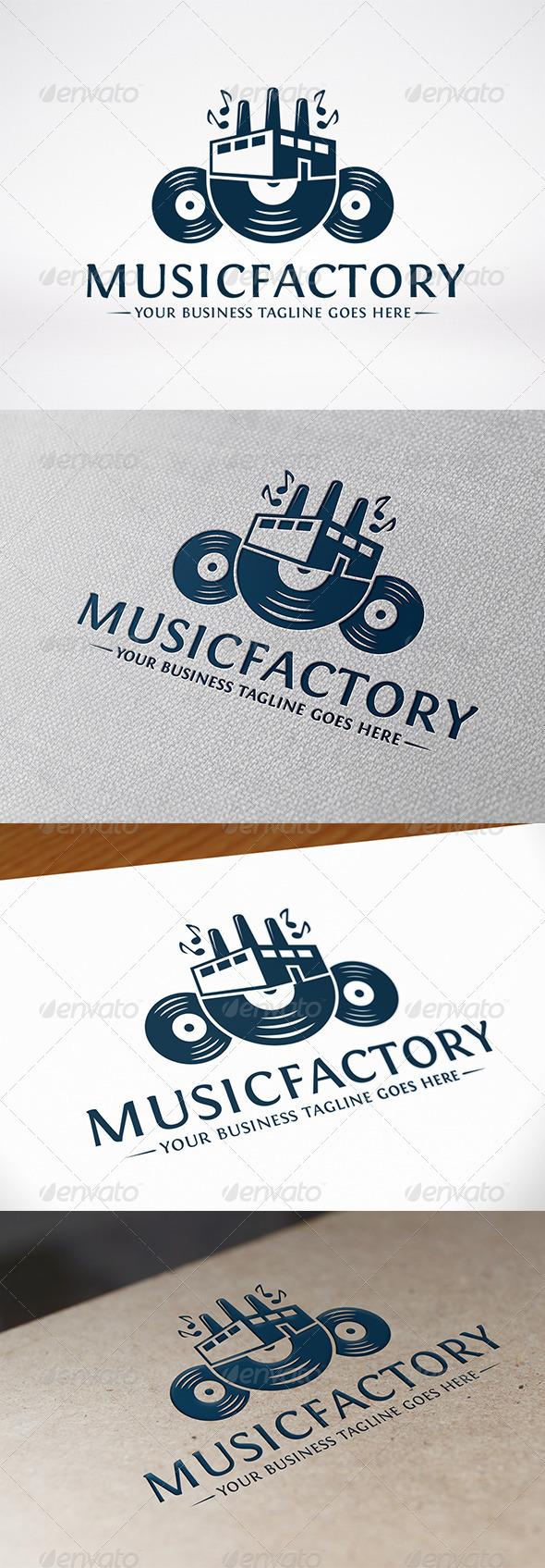 Music Factory Logo Template - Symbols Logo Templates