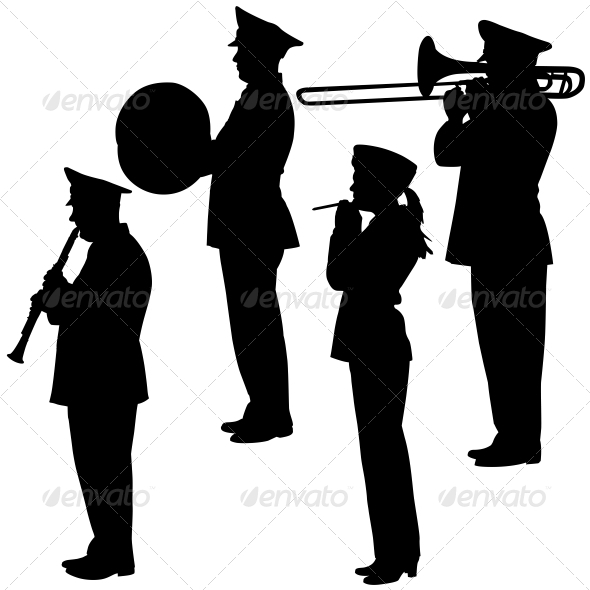 Musicians Silhouettes - People Characters