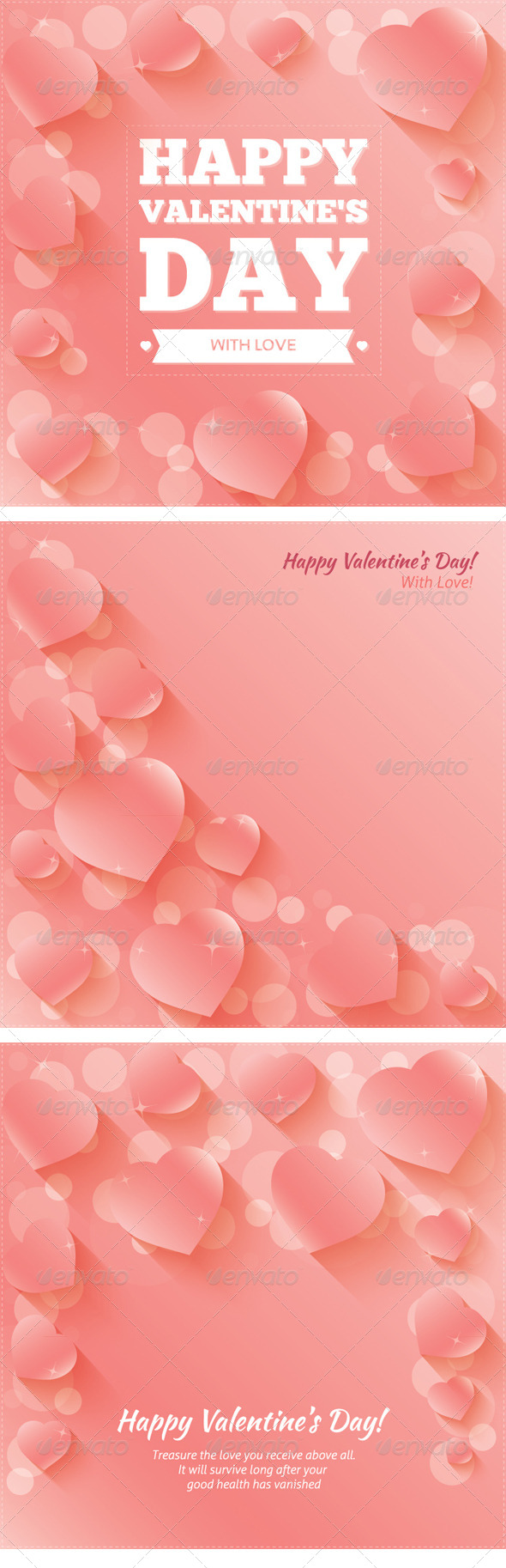 Valentine's Day Cards / Backgrounds with Hearts - Valentines Seasons/Holidays