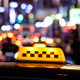 Timelapse of City Traffic at Night Behind Taxi 1 - VideoHive Item for Sale