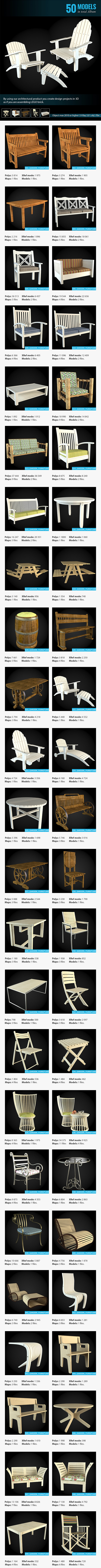 Garden Furniture Collection - 3DOcean Item for Sale