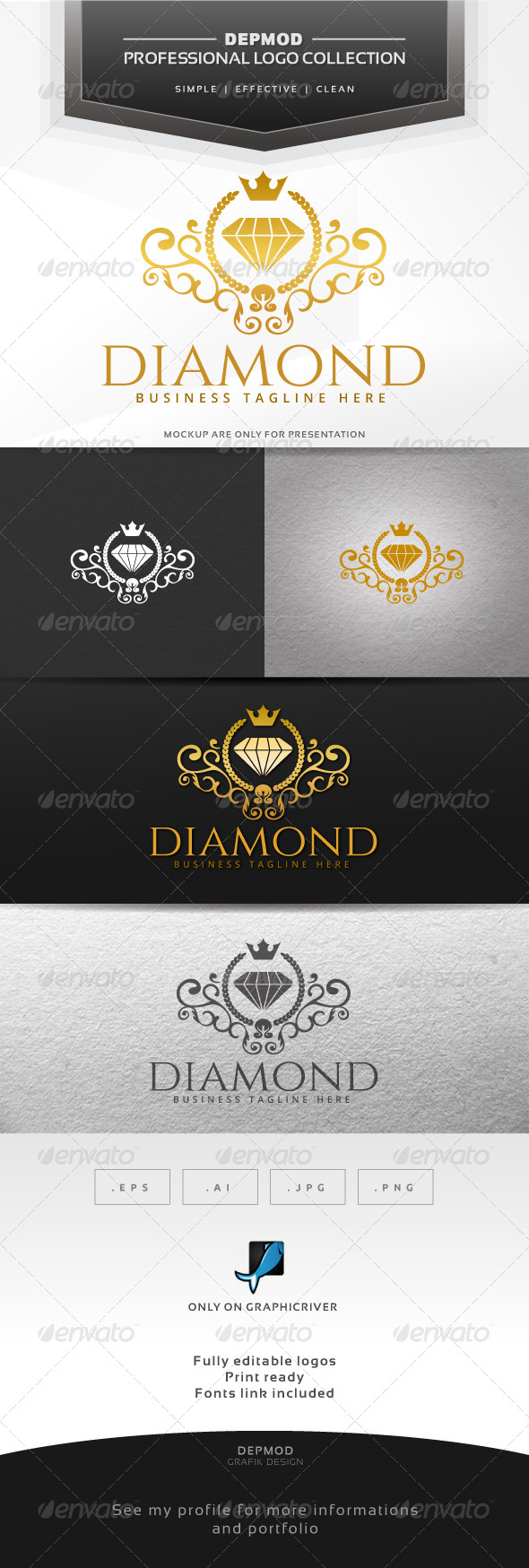 Diamond Logo - Crests Logo Templates