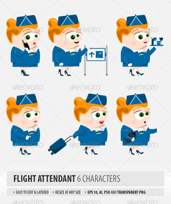 Flight Attendant - People Characters