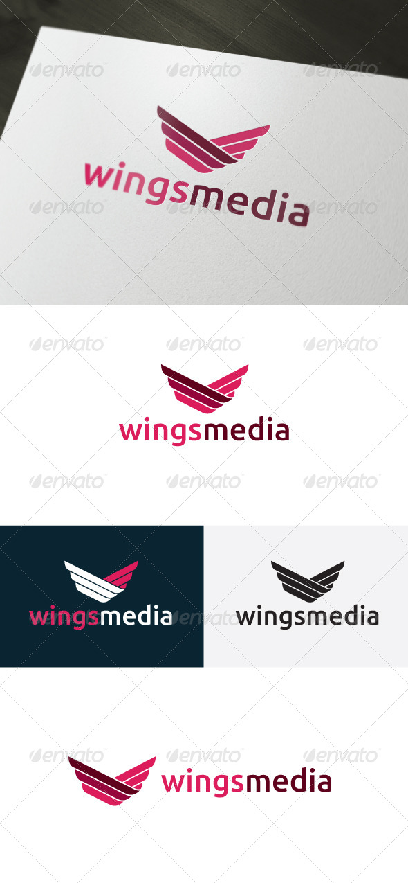 Wings Media Logo - Vector Abstract