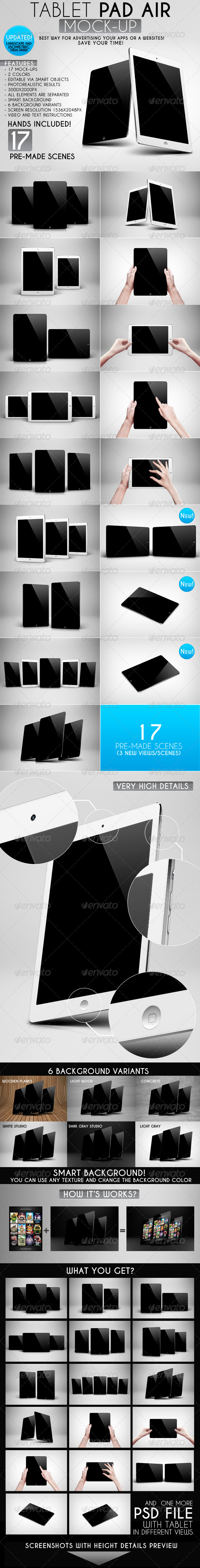 Tablet Pad Air Mock-Up - Mobile Displays