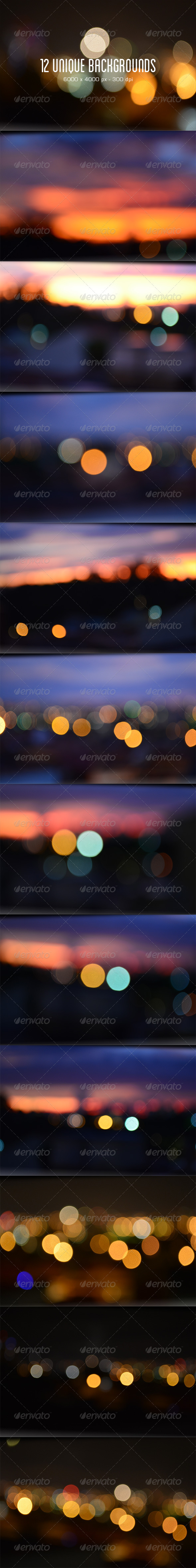 12 Bokeh / Blurred Backgrounds - Abstract Backgrounds